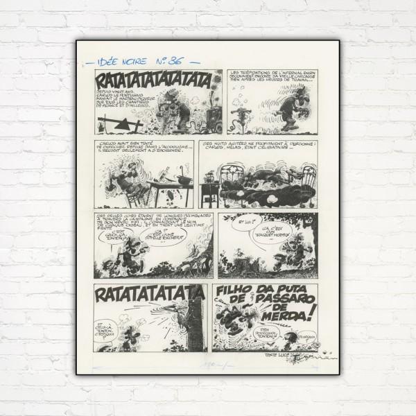 Idées Noires de Franquin 36 - Impression sur Aluminium