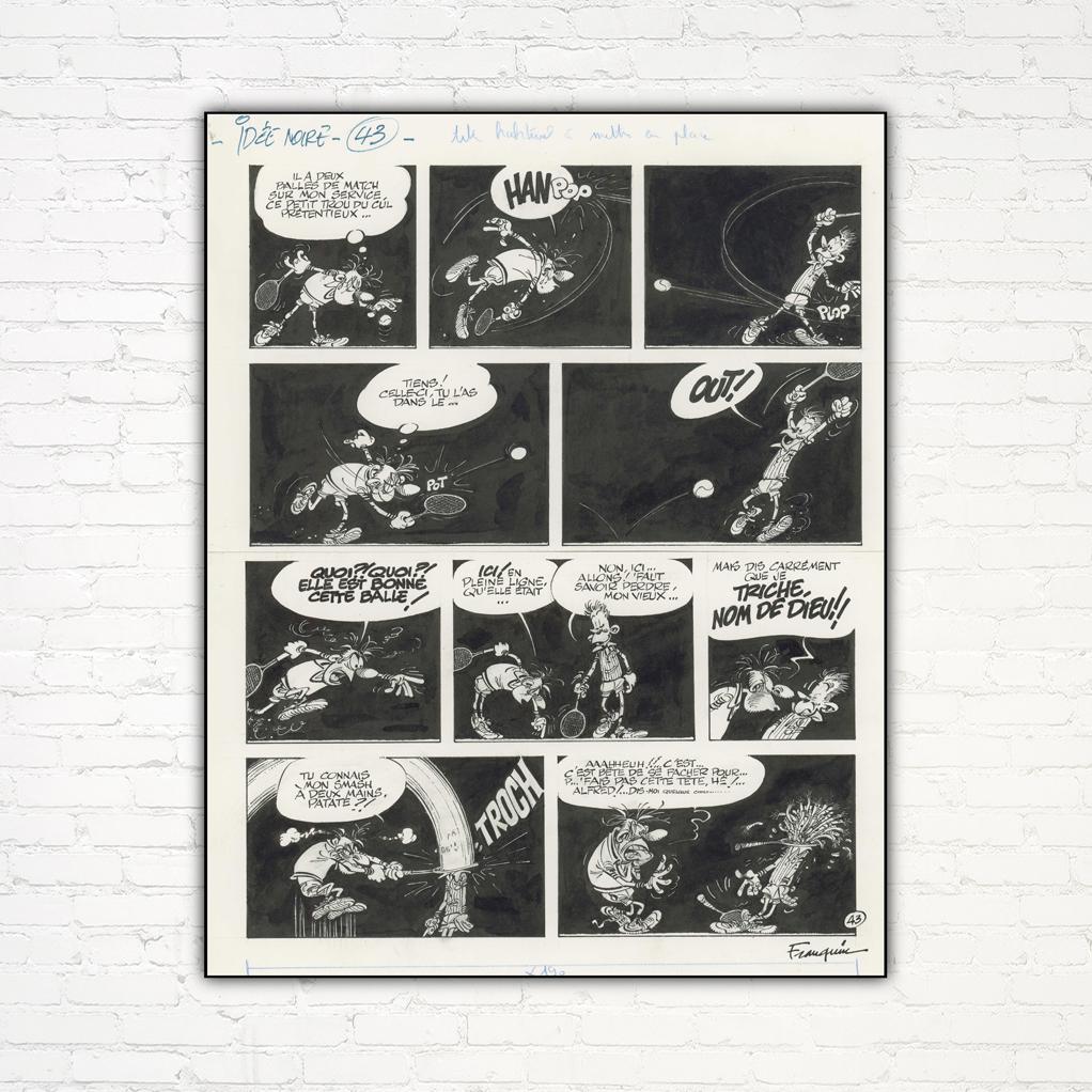 Idées Noires de Franquin 43 - Impression sur Aluminium: Tirages d'art Geek chez Le petit ...
