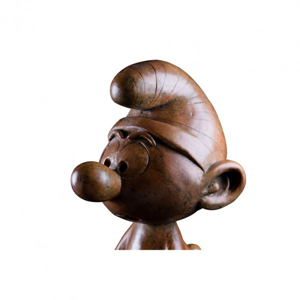 Bronze sculpture Prisoner Smurf