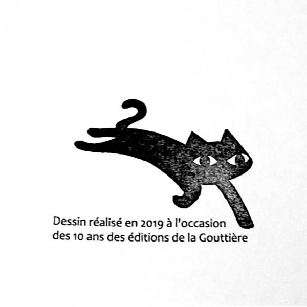 Silkscreen print La Gouttière publishing 10 years anniversary