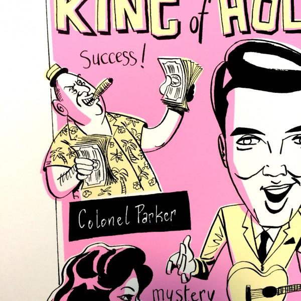 Silkscreen print Elvis by Kent 1