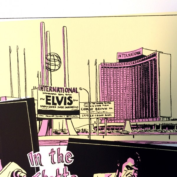 Silkscreen print Elvis by Kent 2