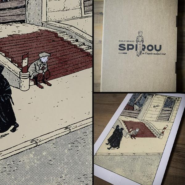 Deluxe album Emile Bravo, Spirou Un mauvais départ (french Edition)