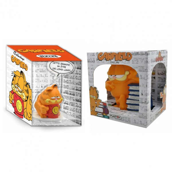 Pack Garfield Figurine et tirelire livres