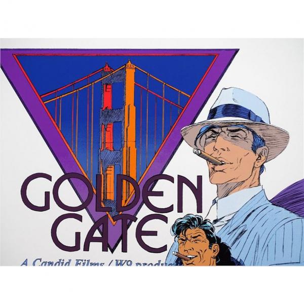 Silkscreen print Largo Winch Golden Gate