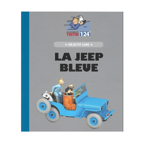 Tintin 1/24 vehicle : Destination moon blue jeep