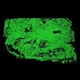 Phosphorescent silkscreen print Gomer Goof archvies nap