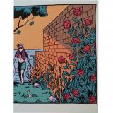 Sérigraphie La dernière rose de l'été - Léo revenant de la plage