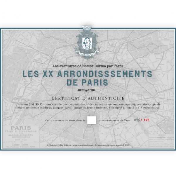 Estampe pigmentaire Nestor Burma par Tardi, le 18e arrondissement