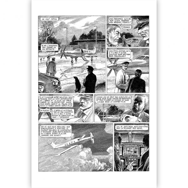 Tirage de tête Le dernier pharaon - Version noir et blanc - Laurent Hennebelle
