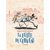 Sérigraphie La fuite du cerveau N/B signée par Pierre-Henry Gomont