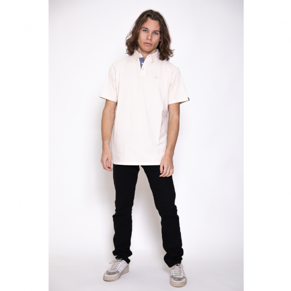 Polo N°13 blanc, taille M