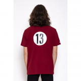 Polo N°13 rouge, taille M