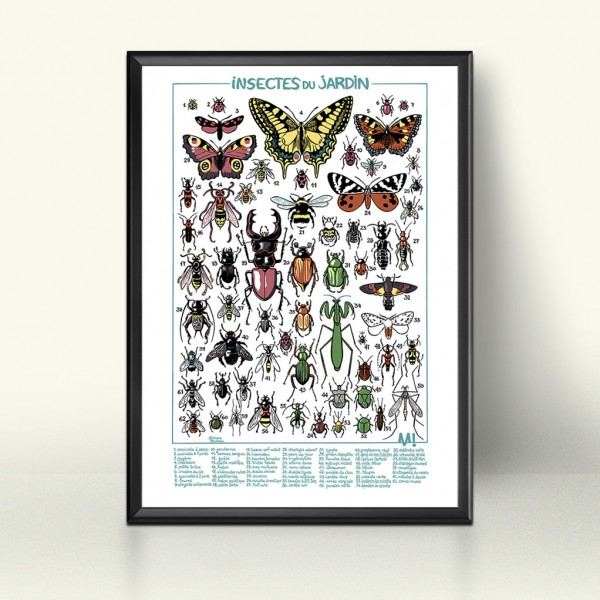Silkscreen Insects from the garden