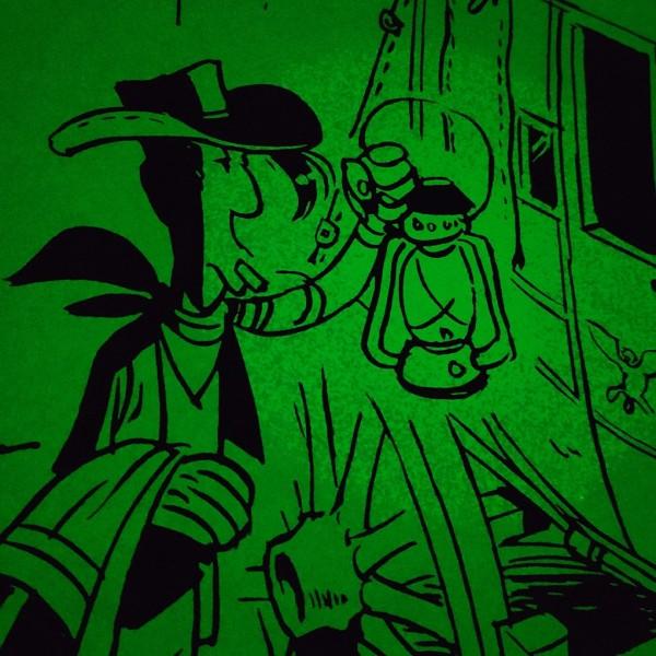 Sérigraphie phosphorescente Lucky Luke La Diligence