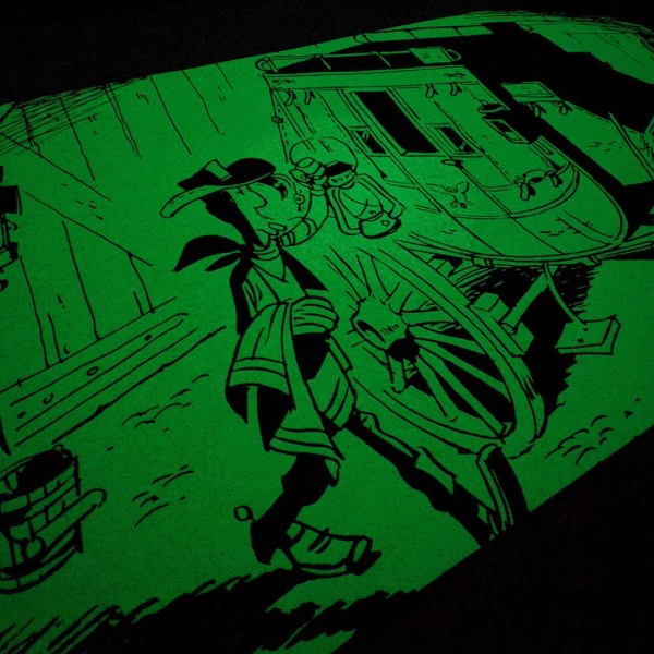 Phosphorecent Silkscreen Lucky Luke The Diligence