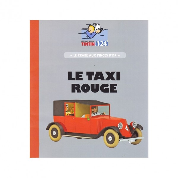 Tintin's cars 1/24 - The red taxi from The Crab with the golden claws