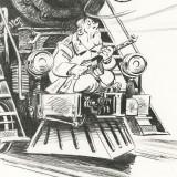 Lithographie Spirou chez les Soviets
