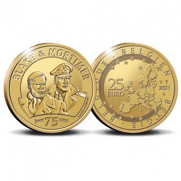 Pièce commémorative 25 euros Blake et Mortimer Or