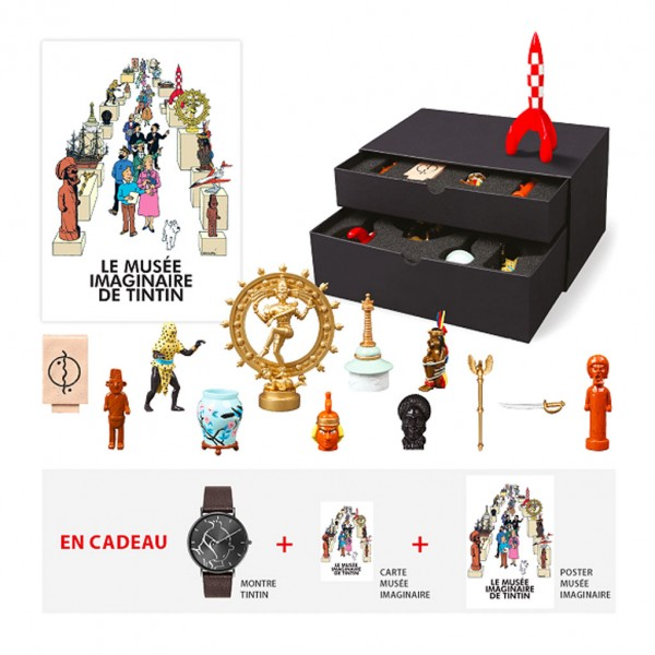 Coffret 13 figurines Musée imaginaire de Tintin