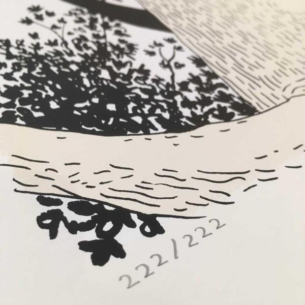 Sérigraphie Frondaison signée par Lewis Trondheim