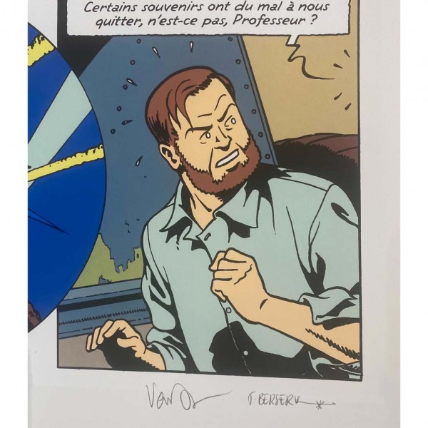 Sérigraphie Blake et Mortimer, Le Dernier espadon