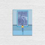 Bois laminé Moebius, Major au musée bleu