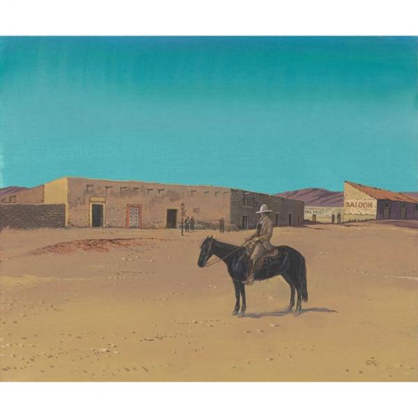 Digigraphie Jean Giraud - Cheval Noir