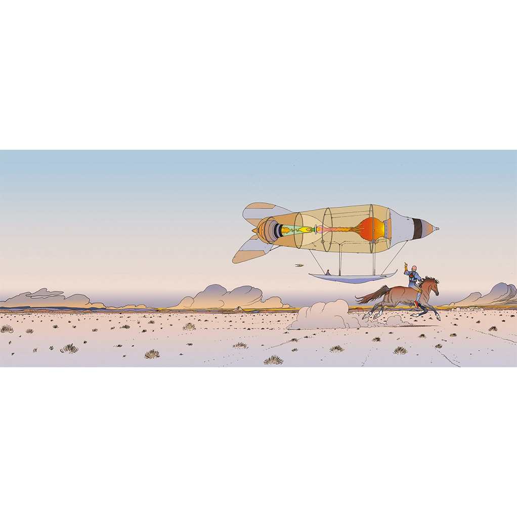 Digigraphie Plus léger que l'air Moebius - secondaire-1