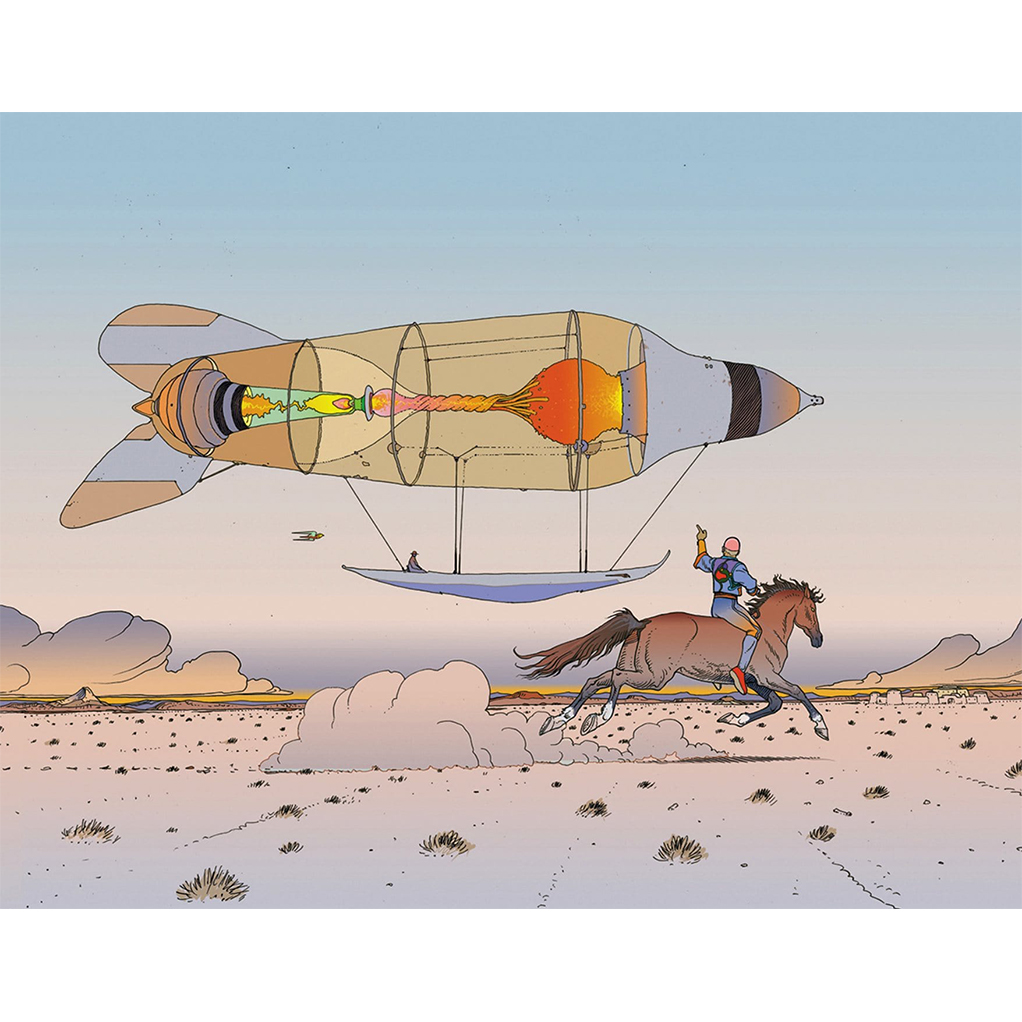 Digigraphie Plus léger que l'air Moebius - secondaire-2