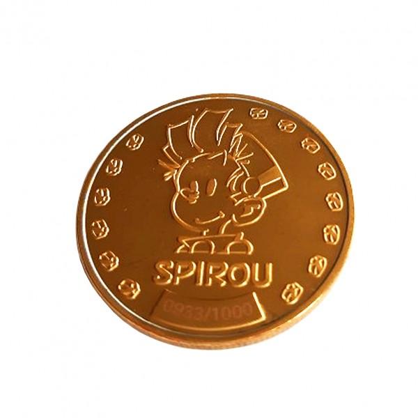 Médaille de Collection - Spirou et Fantasio - Couleur Or