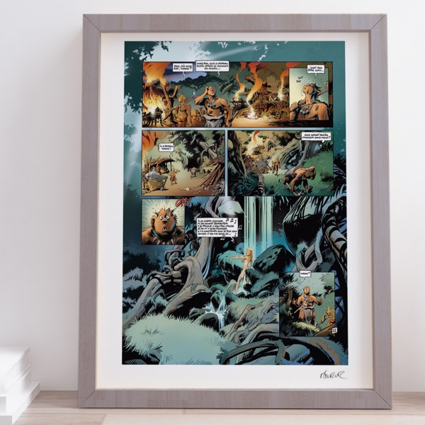 Poster Trolls de Troy signed by Jean-Louis Mourier (french Edition)