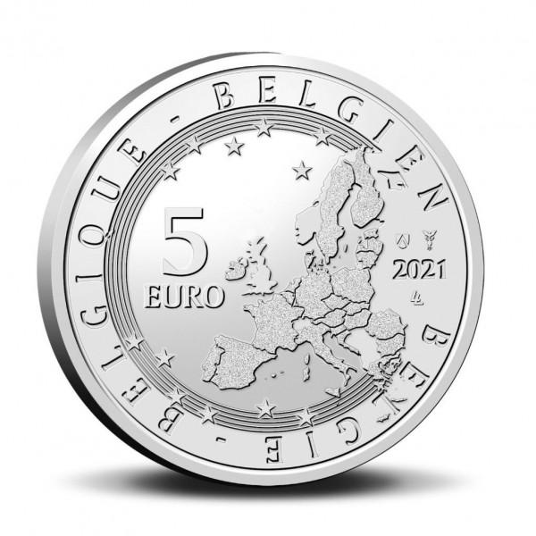 Commemorative coin 5 euros 75th anniversary Blake & Mortimer Relief