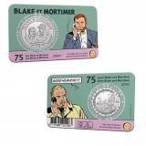 Pièce commémorative 5 euros 75 ans Blake et Mortimer Relief