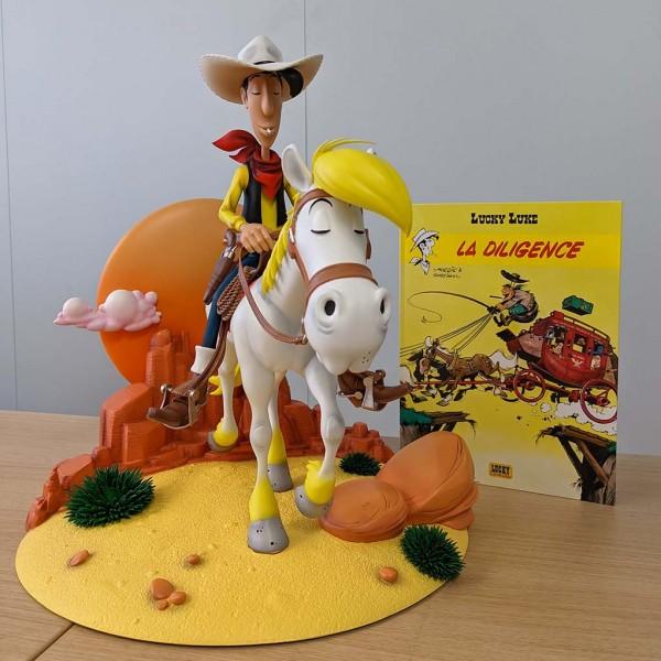 Figurine Lucky Luke & Jolly Jumper 75th Anniversary